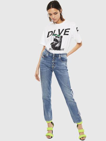 Diesel - T-JUST-T21, Bianco - T-Shirts - Image 8
