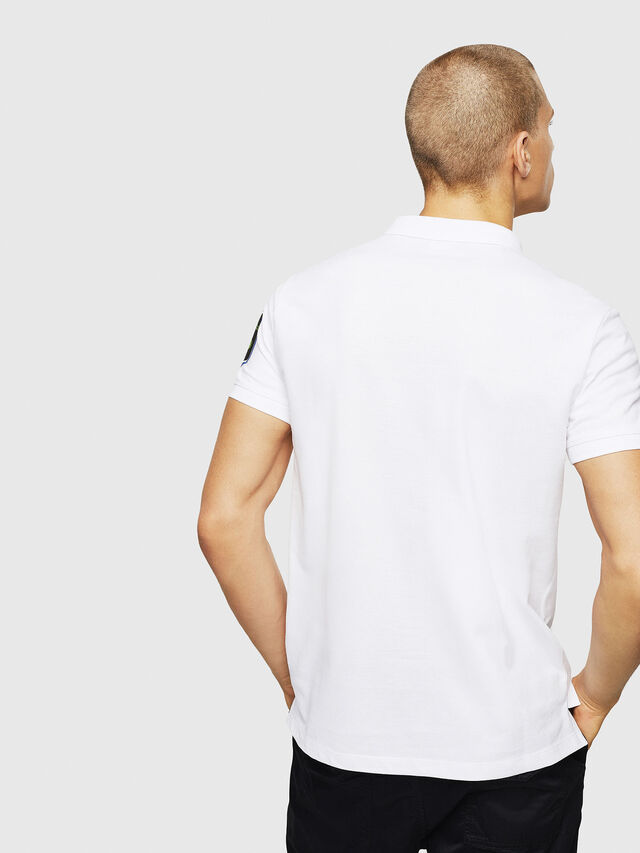 Diesel - T-POLO-PATCHES, Bianco - Polo - Image 3