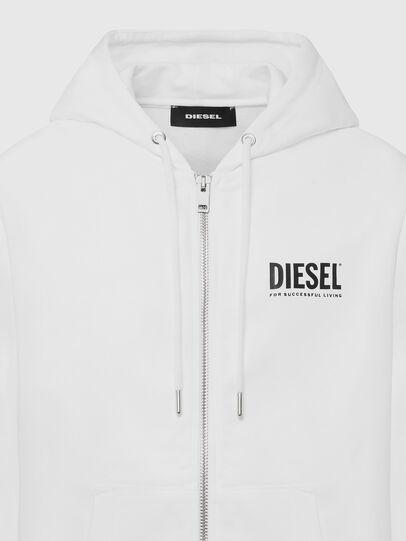 Diesel - S-GIRK-HOOD-ZIP-LOGO, Bianco - Felpe - Image 3