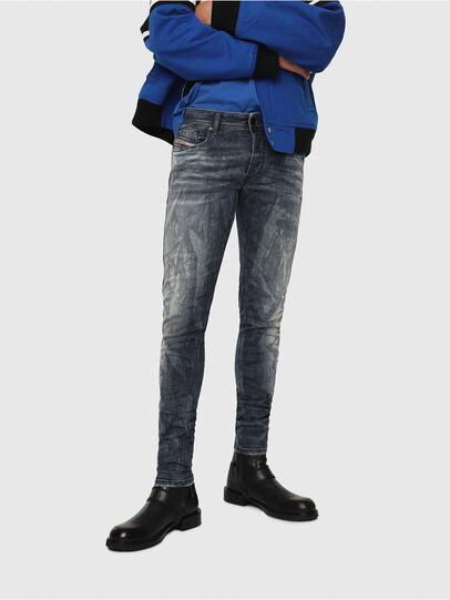 Diesel - Sleenker 069DH, Blu Scuro - Jeans - Image 1