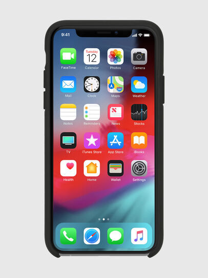 Diesel - DIESEL PRINTED CO-MOLD CASE FOR IPHONE XS & IPHONE X, Nero/Bianco - Cover - Image 4
