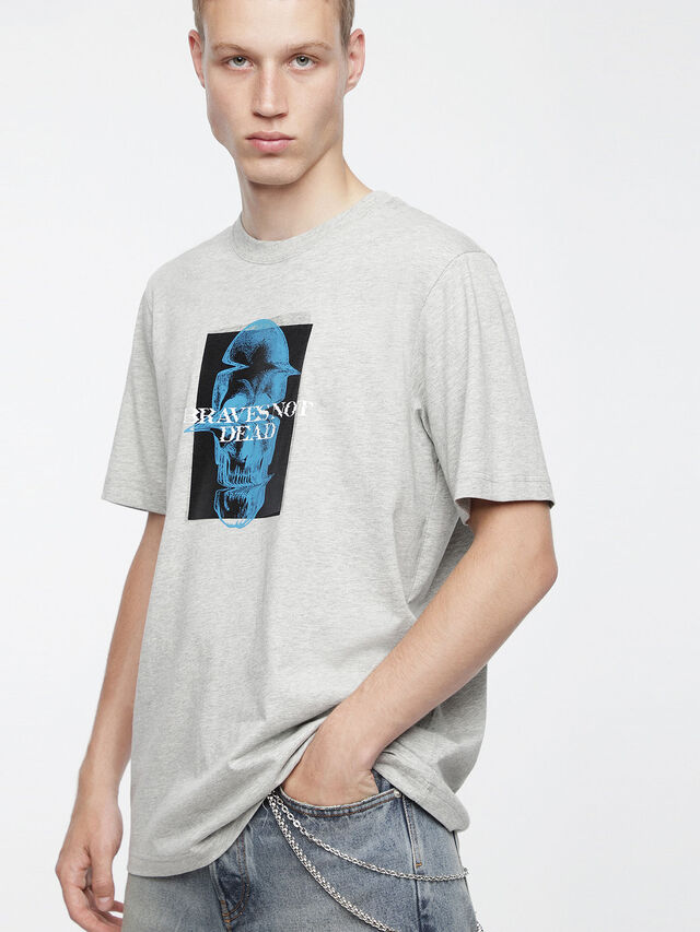 Diesel - T-JUST-XV, Grigio - T-Shirts - Image 1