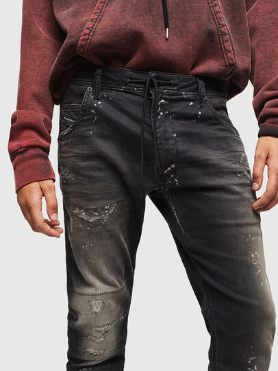 Diesel - Krooley JoggJeans 084AE, Nero/Grigio scuro - Jeans - Image 3