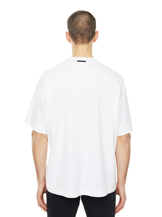 Diesel - TEORIA-TIEDYESQUARE, Bianco - T-Shirts - Image 2