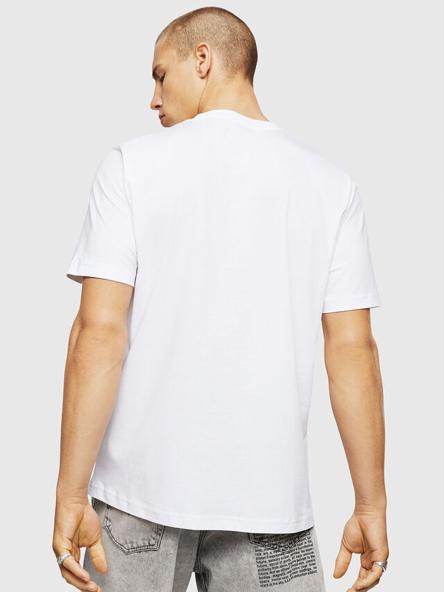 Diesel - T-JUST-A5, Bianco - T-Shirts - Image 2