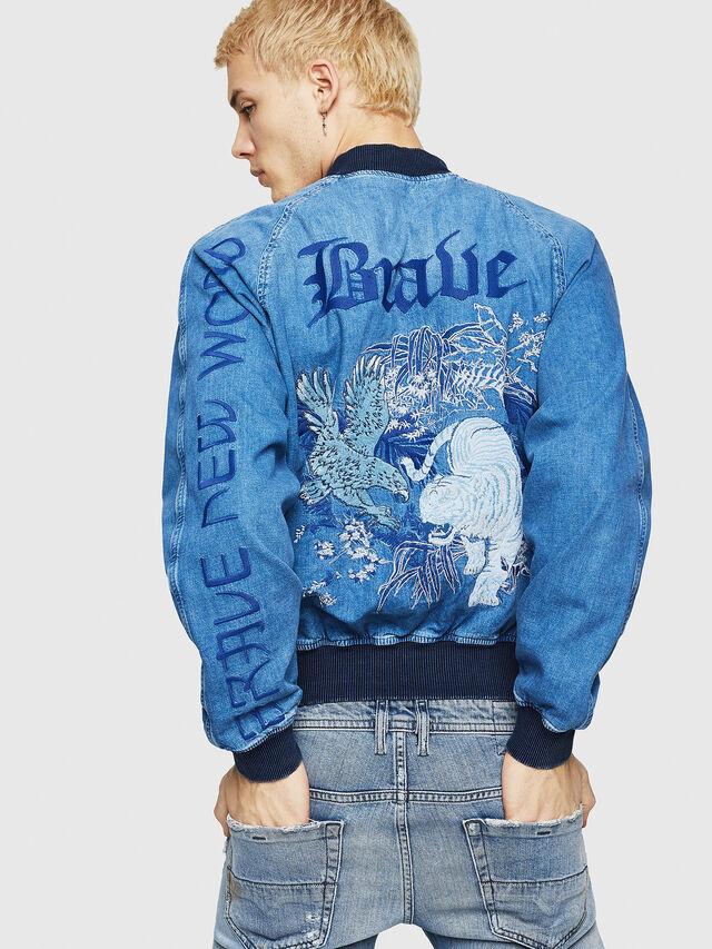 Diesel - D-BAK, Blu Jeans - Giacche in denim - Image 2