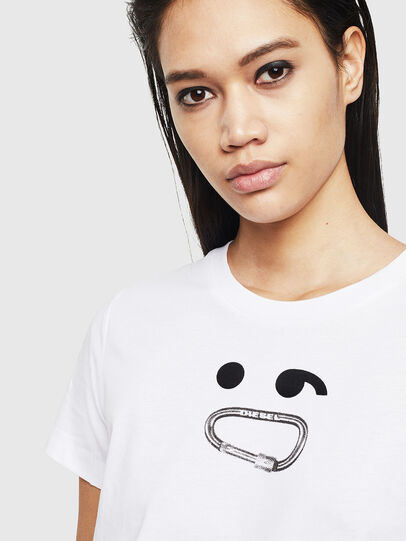 Diesel - T-SILY-S8, Bianco - T-Shirts - Image 3