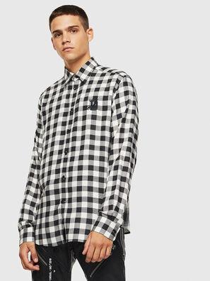 S-VEN-CHECK, Nero/Bianco - Camicie