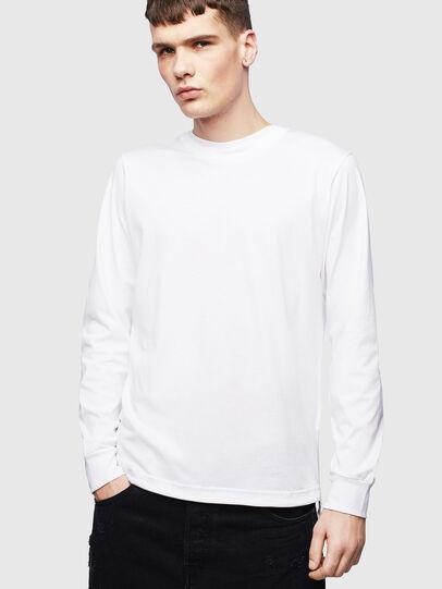 Diesel - T-HUSTY-LS, Bianco - T-Shirts - Image 1