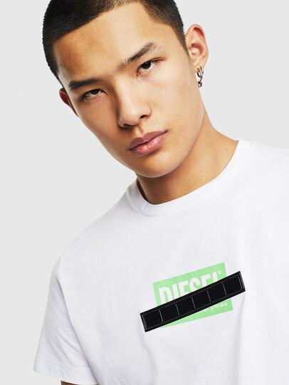 Diesel - T-DIEGO-S7, Bianco/Verde - T-Shirts - Image 3