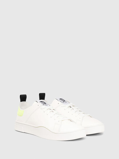 Diesel - S-CLEVER LS, Bianco/Giallo - Sneakers - Image 2