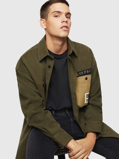 Diesel - S-LEBED, Verde Scuro - Camicie - Image 4