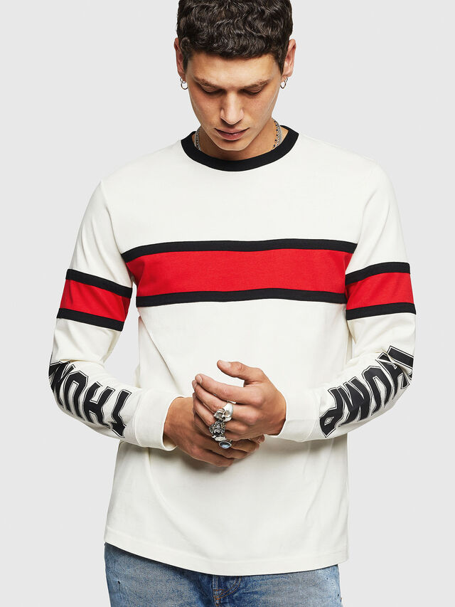 Diesel - T-BERG, Bianco - T-Shirts - Image 1
