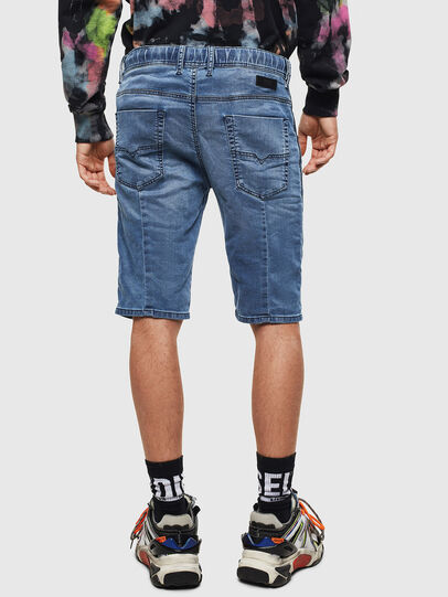 Diesel - D-KROOSHORT JOGGJEANS, Blu medio - Shorts - Image 2