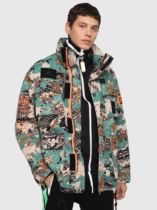 Diesel - J-TOUCHA-CAMOU, Verde Camo - Giacche - Image 1