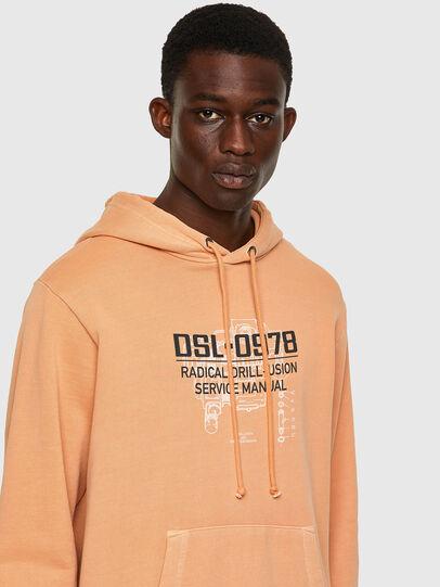 Diesel - S-GIRK-HOOD-B3, Arancione - Felpe - Image 3