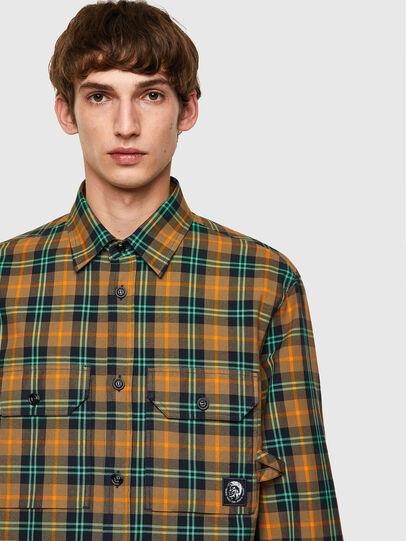 Diesel - S-JESS-CHECK, Arancione/Verde - Camicie - Image 3