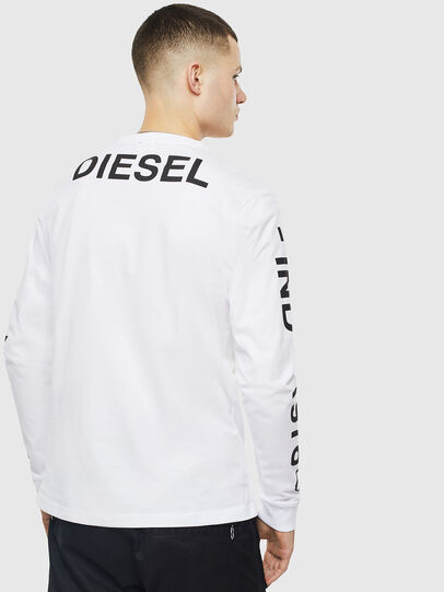 Diesel - T-JUST-LS-T14, Bianco - T-Shirts - Image 2