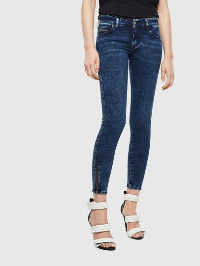 Diesel - Slandy Low 0094Z, Blu Scuro - Jeans - Image 1