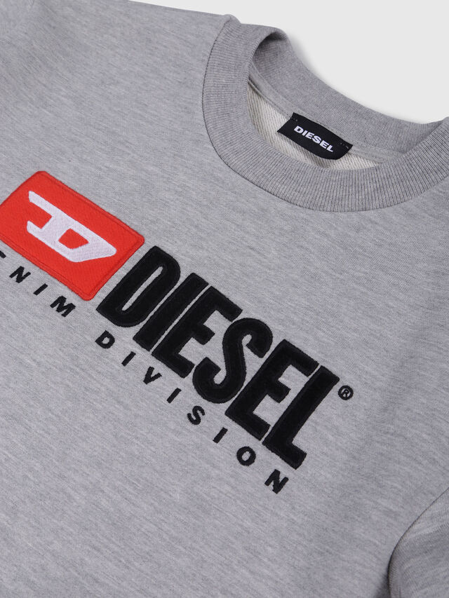 Diesel - SCREWDIVISION OVER, Grigio - Felpe - Image 3