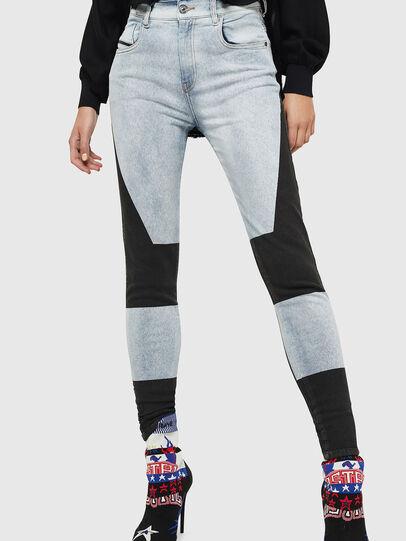 Diesel - Slandy High 0890M, Blu Chiaro - Jeans - Image 1