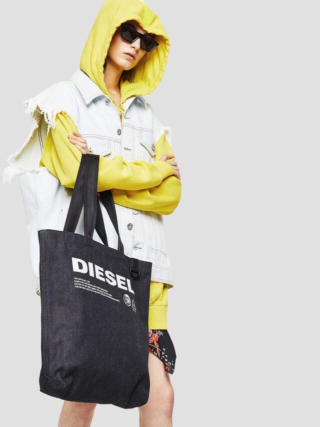 Diesel - F-THISBAG SHOPPER NS, Blu Scuro - Shopper e Borse a Spalla - Image 5