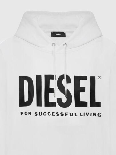 Diesel - F-ANG-HOOD-LOGO, Bianco - Felpe - Image 3