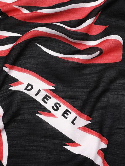 Diesel - SLUCAS, Nero/Rosso - Sciarpe - Image 3