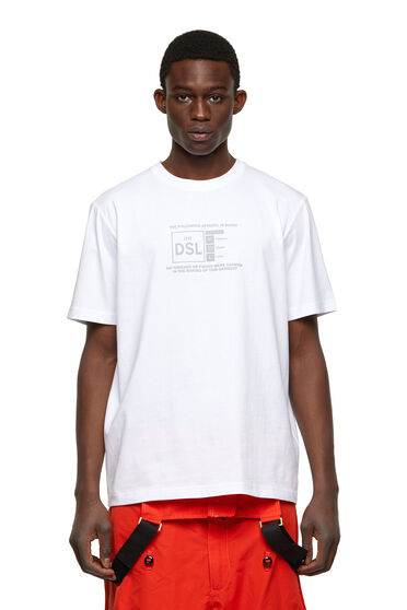 T-shirt con stampa riflettente del logo