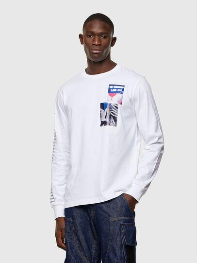Diesel - T-JUST-LS-A10, Bianco - T-Shirts - Image 1