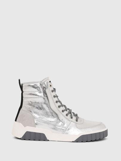 Diesel - S-RUA MID W, Argento - Sneakers - Image 1