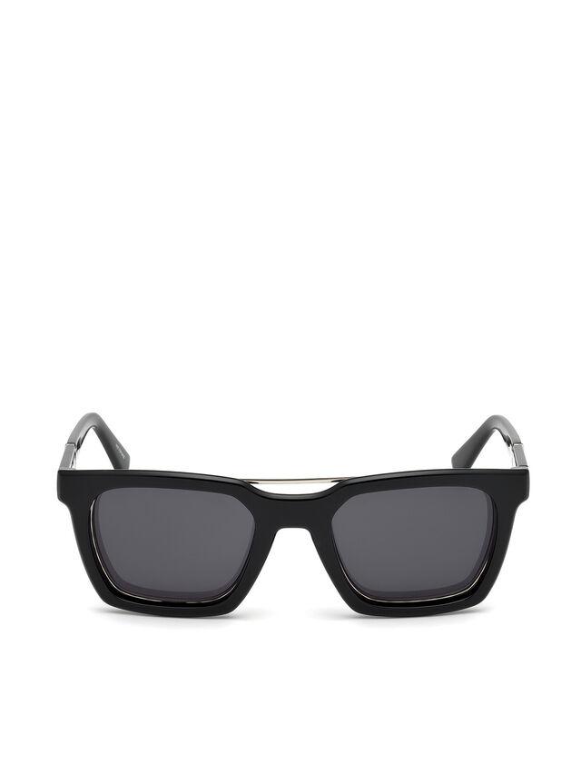 Diesel - DL0250, Nero Brillante - Occhiali da sole - Image 1