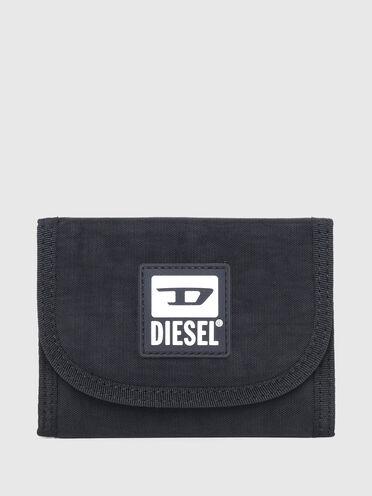 Micro portafoglio in tela lavata