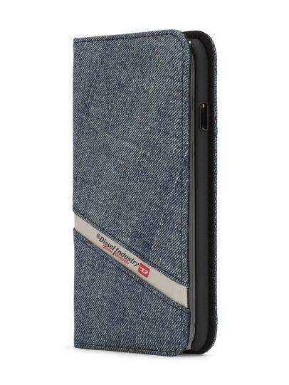 Diesel - DENIM IPHONE 8 PLUS/7 PLUS FOLIO, Blu Jeans - Cover a libro - Image 2