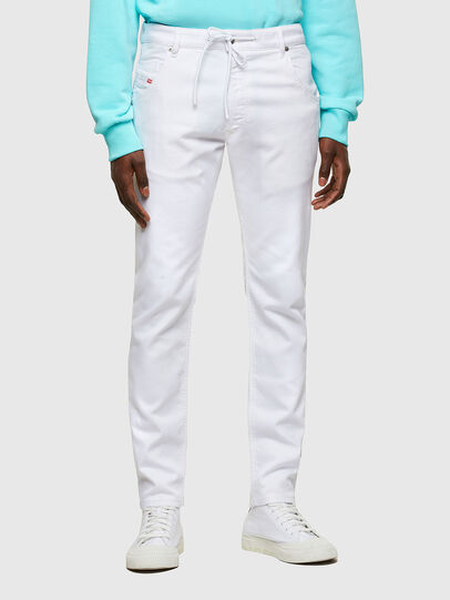 Diesel - Krooley JoggJeans® 0684U, Bianco - Jeans - Image 1