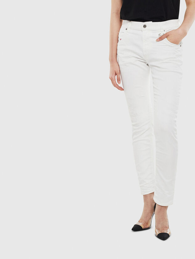 Krailey JoggJeans 069DS, Bianco - Jeans
