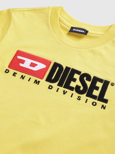 Diesel - TJUSTDIVISION, Giallo - T-shirts e Tops - Image 3