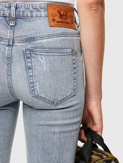 Diesel - Slandy High 009TG, Blu Chiaro - Jeans - Image 4