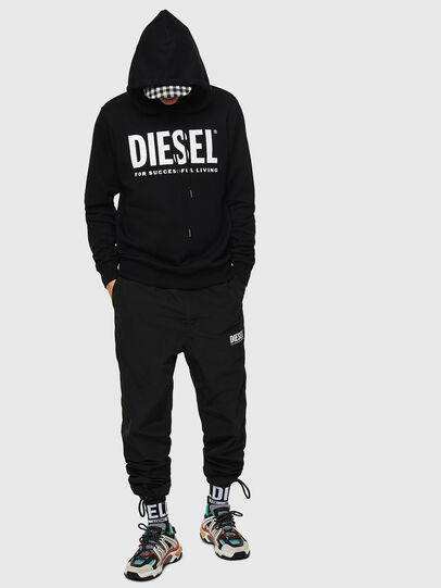 Diesel - S-GIR-HOOD-DIVISION-, Nero - Felpe - Image 4