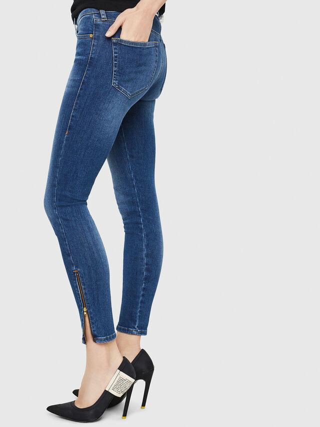 Diesel - Slandy Zip 088AU, Blu medio - Jeans - Image 3