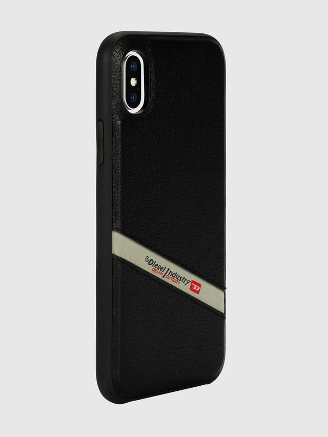 Diesel - DIESEL LEATHER CO-MOLD CASE FOR IPHONE XS MAX, Nero - Cover - Image 6