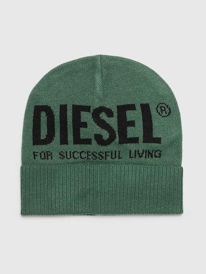 Diesel - K-BECKY-B, Verde Scuro - Cappelli invernali - Image 1