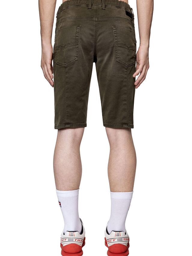 Diesel - D-KROOSHORT JOGGJEANS, Verde Scuro - Shorts - Image 2