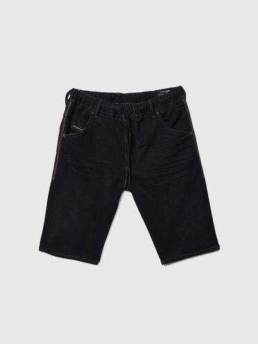 Shorts slim fit in JoggJeans® con abrasioni