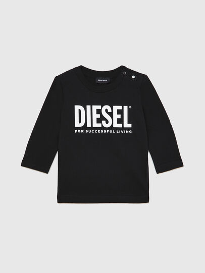 Diesel - TJUSTLOGOB ML, Nero - T-shirts e Tops - Image 1
