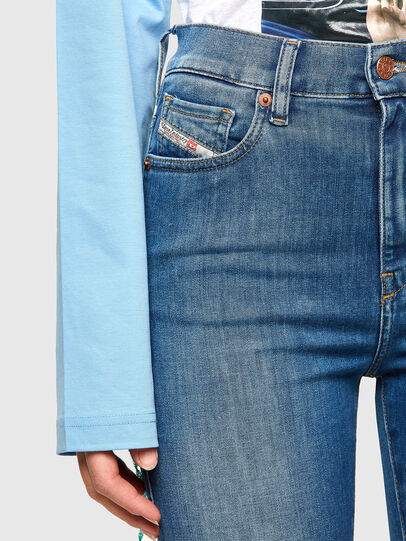 Diesel - D-Roisin High 009PE, Blu medio - Jeans - Image 3