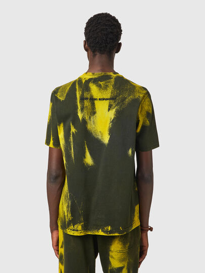 Diesel - T-JUST-B84, Verde/Giallo - T-Shirts - Image 3