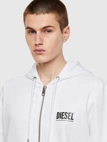 Diesel - S-GIRK-HOOD-ZIP-ECOL, Bianco - Felpe - Image 3