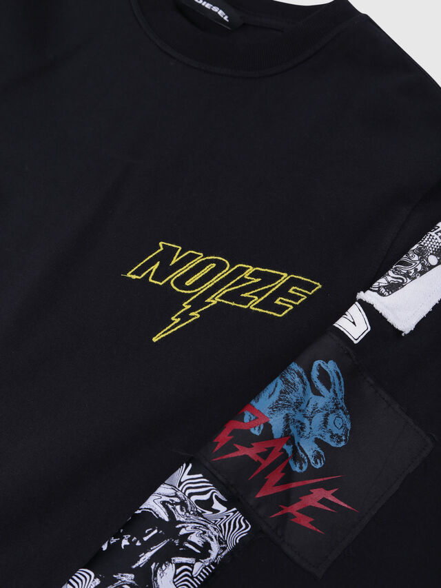 Diesel - TJUSTLSWA OVER, Nero - T-shirts e Tops - Image 3