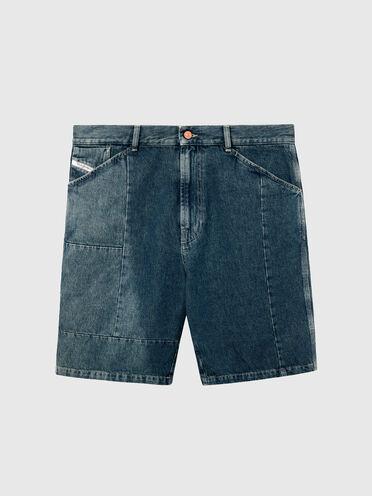 Shorts in denim con effetto sbiadito